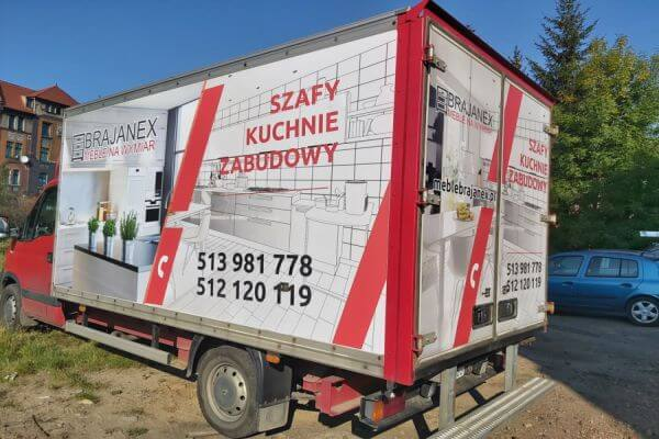 oklejanie samochodu dostawczego Śląsk